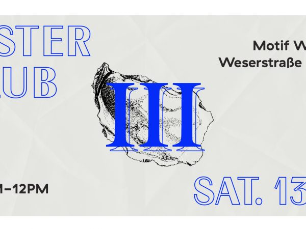 Oyster Klub#3 is coming back on the 13th of October at MotifWein